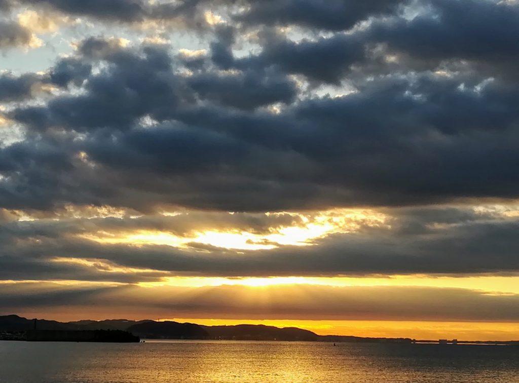 片瀬海岸初日の出
